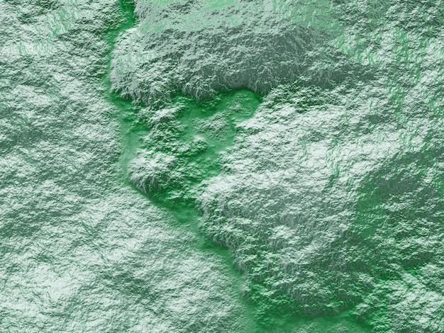 Vista superior 3d do terreno topográfico