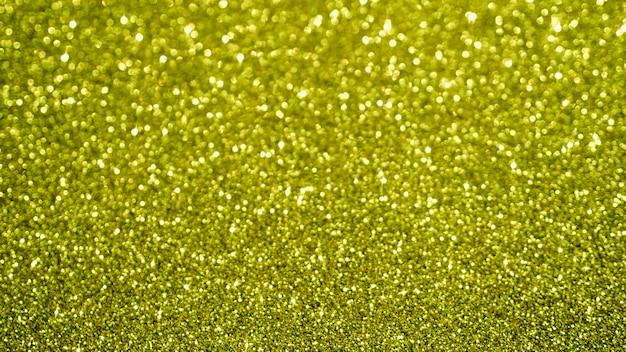 Vista superior amarelo glitter fundo