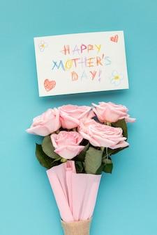 Vista superior bela coleção para o dia das mães