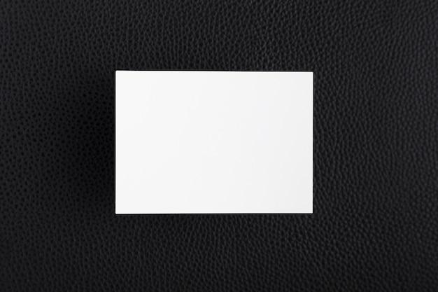 Vista superior branco cartão de visita