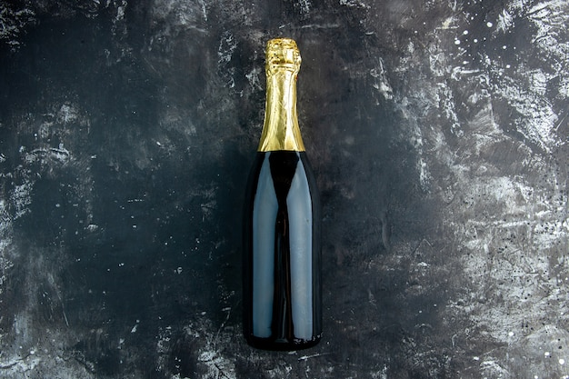 Vista superior champanhe