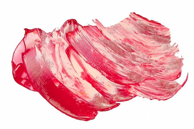 Vista superior com cores de pintura misturadas