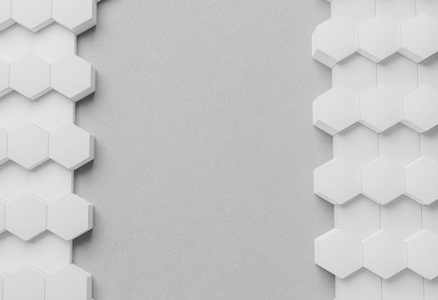 Vista superior com fundo geométrico moderno branco