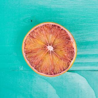 Vista superior cortada laranja