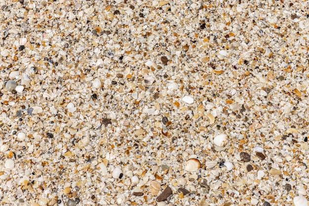Vista superior da areia da praia