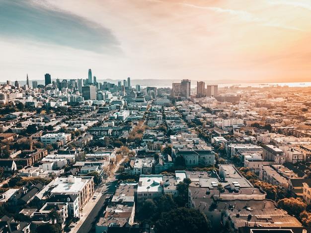 Vista superior da cidade