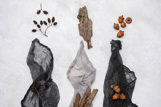 Vista superior da coleção de corantes orágnicos