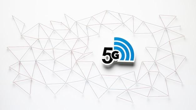 Vista superior da comunicação de internet 5g