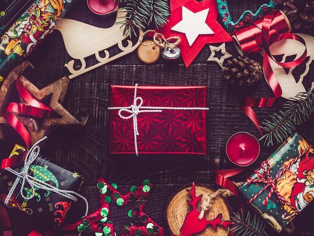 Vista superior da decoração de natal