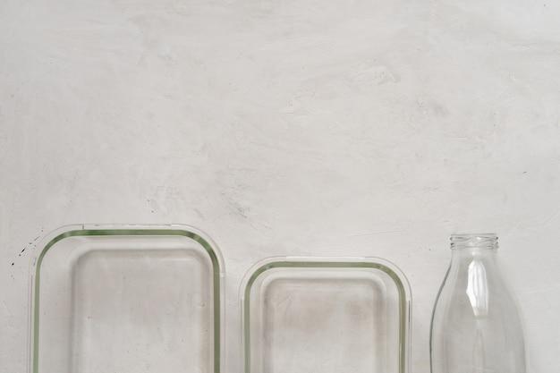 Vista superior da embalagem de alimentos ecológicos