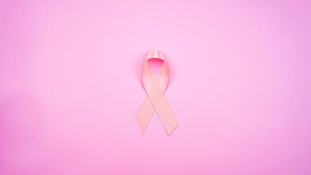 Vista superior da fita rosa