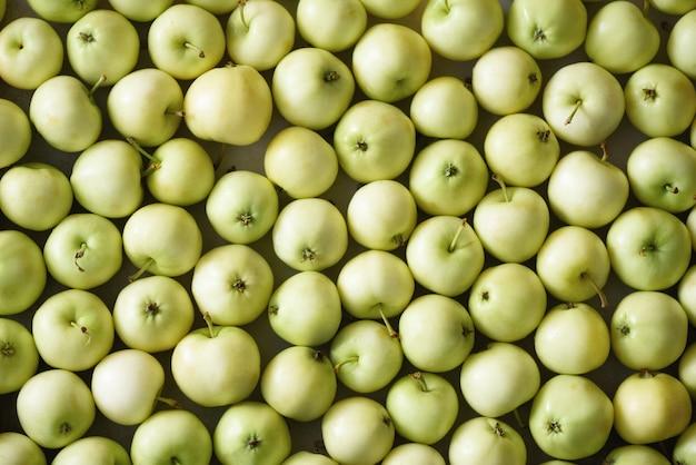 Vista superior da maçã verde., conceito, cópia espaço, macro