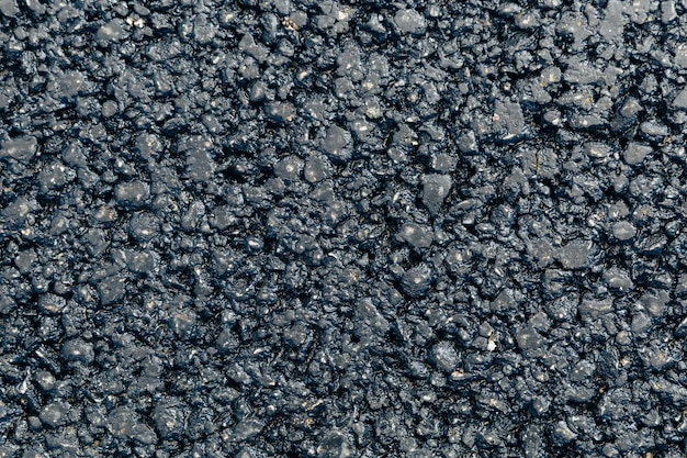 Vista superior da nova textura de asfalto