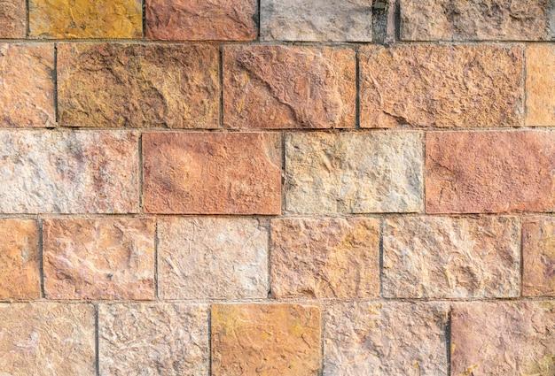 Vista superior da parede de tijolos