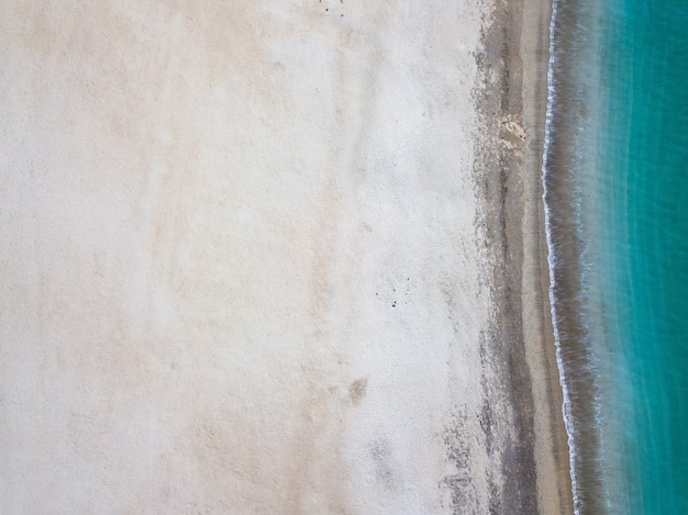 Vista superior da praia