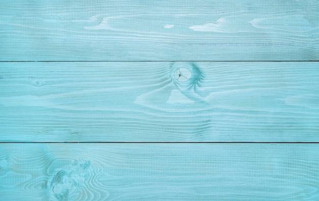 Vista superior da superfície de madeira azul