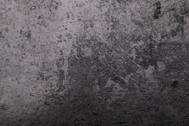 Vista superior da superfície metálica