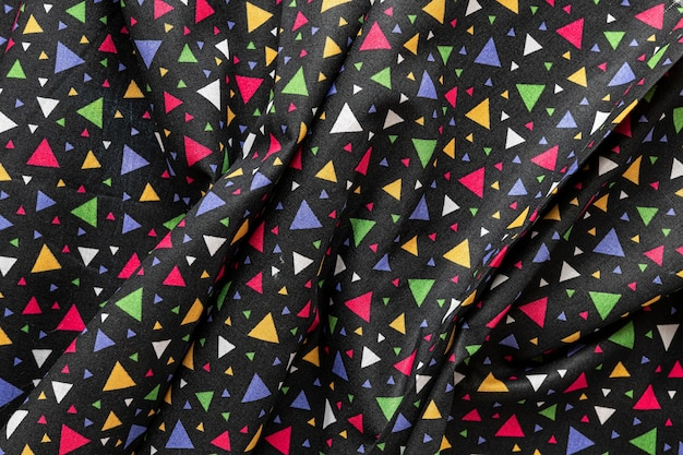 Vista superior da textura do tecido