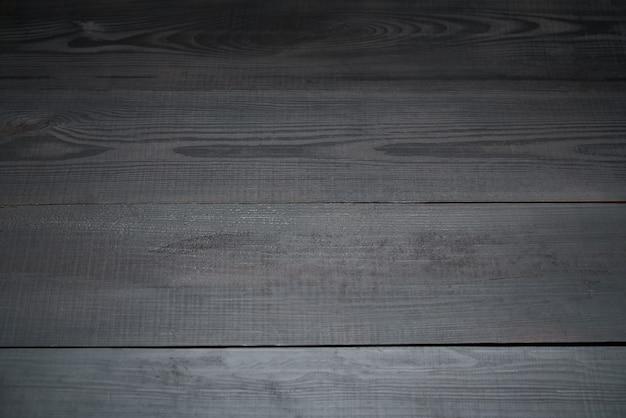 Vista superior da textura ou fundo de madeira escura