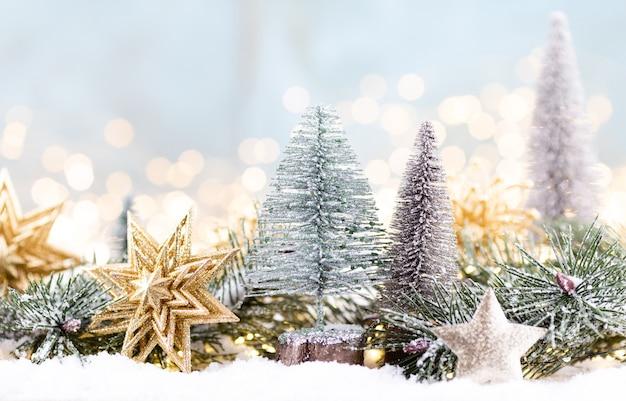 Vista superior das decorações de natal