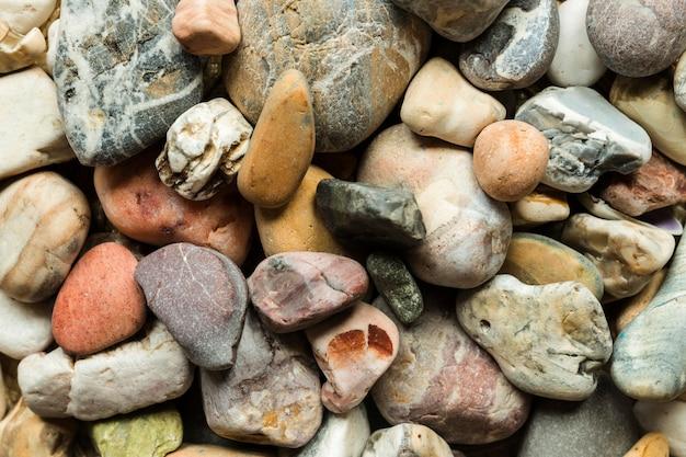 Vista superior das rochas