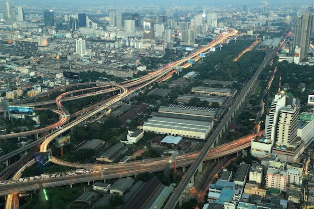 Vista superior de bangkok expressway e highway