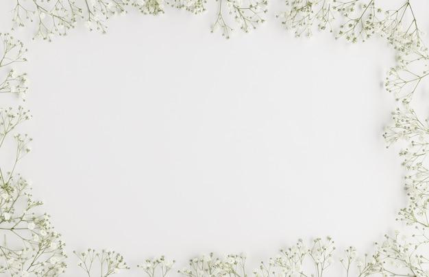 Vista superior de cosméticos naturais com espaço de cópia