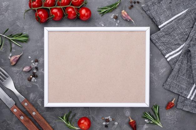 Vista superior de legumes para cozinhar