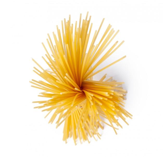 Vista superior de macarrão espaguete