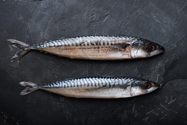 Vista superior de peixes frescos