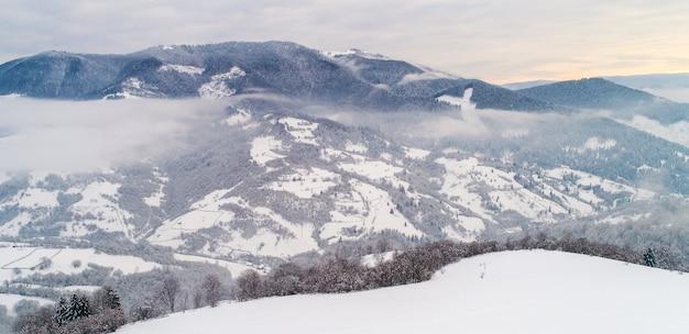 Vista superior de uma bela paisagem hipnotizante