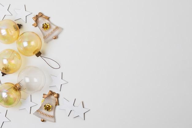 Vista superior decorações decorações de estilo de papel