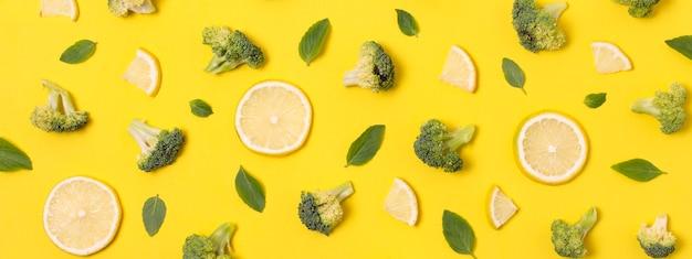 Vista superior deliciosa composição de frutos maduros