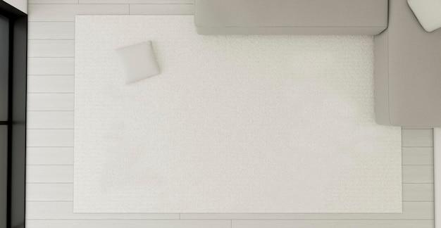 Vista superior design de interiores minimalista