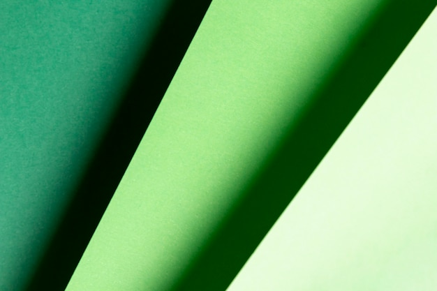Vista superior diferentes tons de padrões verdes
