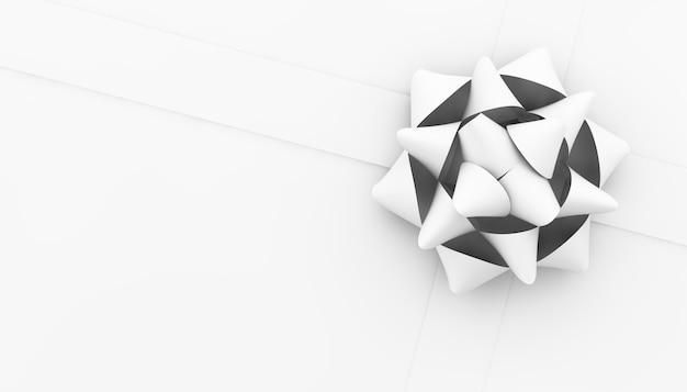 Vista superior do arco do papel branco em renderização 3d