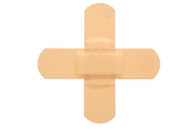 Vista superior do band-aid