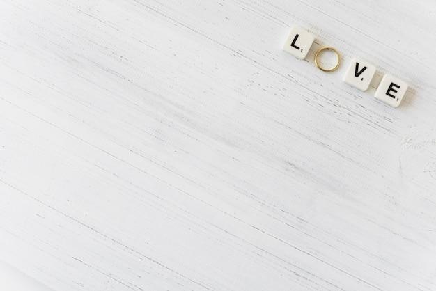 Vista superior do casamento ainda vida com copyspace