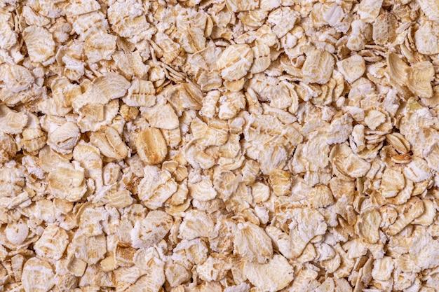 Vista superior do cereal de aveia