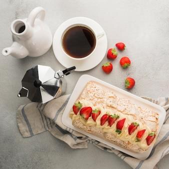 Vista superior do conceito de delicioso merengue