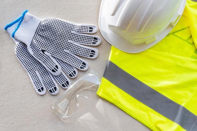 Vista superior do equipamento de segurança para construção
