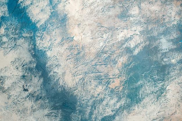 Vista superior do espaço da cópia do fundo branco azul