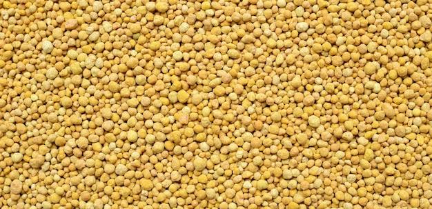 Vista superior do fertilizante químico para plantio