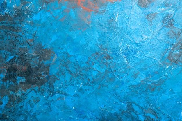Vista superior do fundo azul com lugar livre
