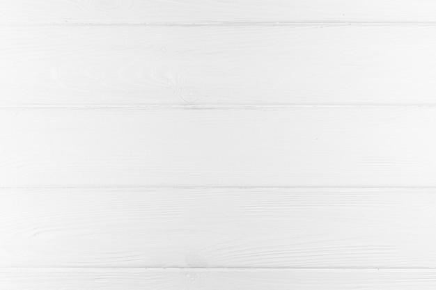 Vista superior do fundo branco de madeira