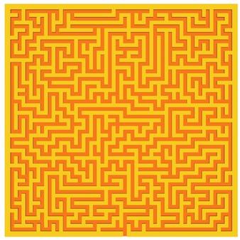 Vista superior do fundo com textura de labirinto amarelo-alaranjado