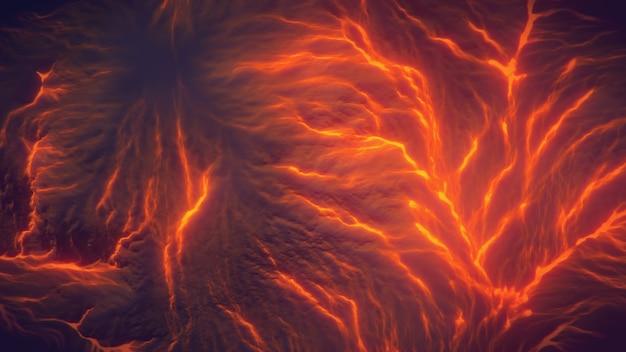 Vista superior do fundo da montanha de lava do vulcão