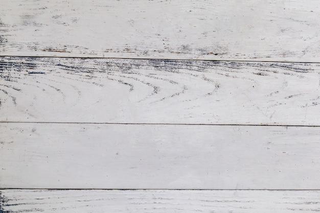 Vista superior do fundo da superfície da mesa de madeira branca.