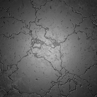 Vista superior do fundo de pedra preta de crack
