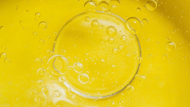 Vista superior do fundo líquido amarelo